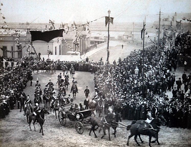 Arrival of Queen Victoria