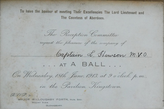 Ball invitation 1913