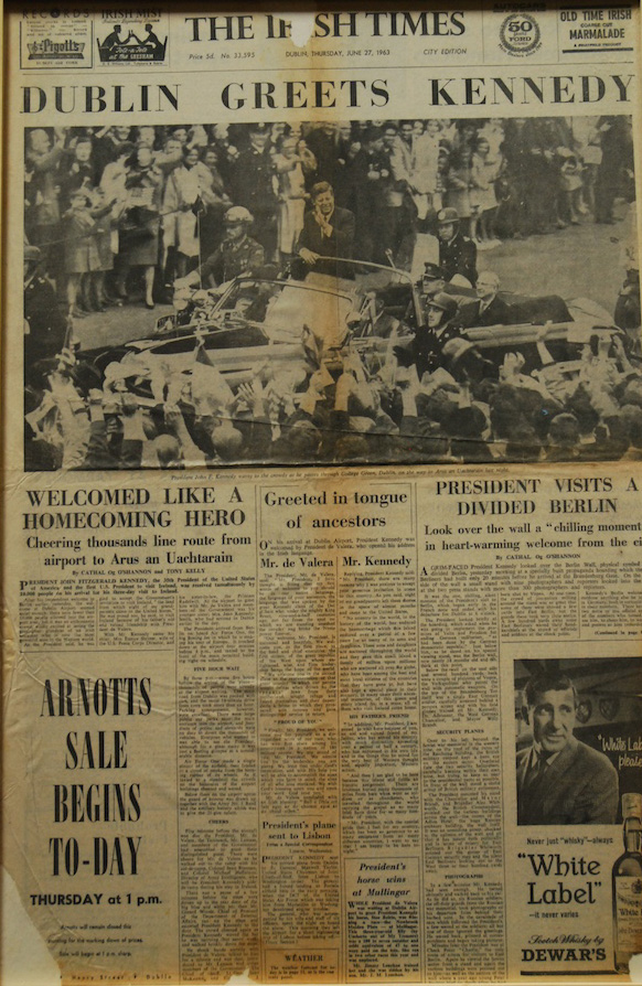 Dublin Greets Kennedy newspaper