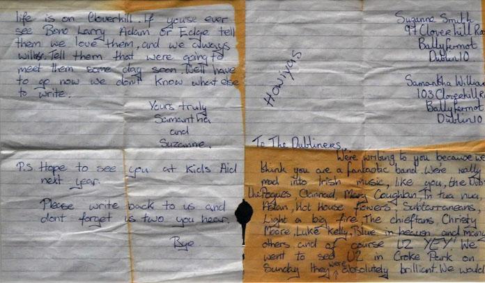 Dubliner's fan letter