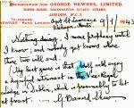 G. B. Shaw's postcard, 1943