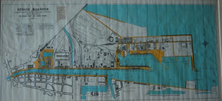 Map of Dublin Harbour