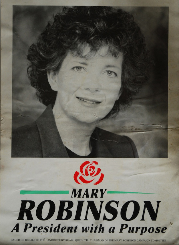 Mary Robinson election poster