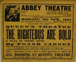 The Righteous Are Bold poster, 1954