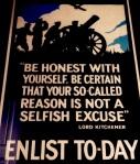 First World War Recruitment Poster, 1915