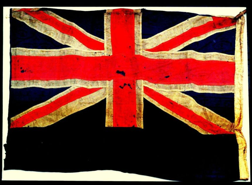 Union Jack from HMS Dublin
